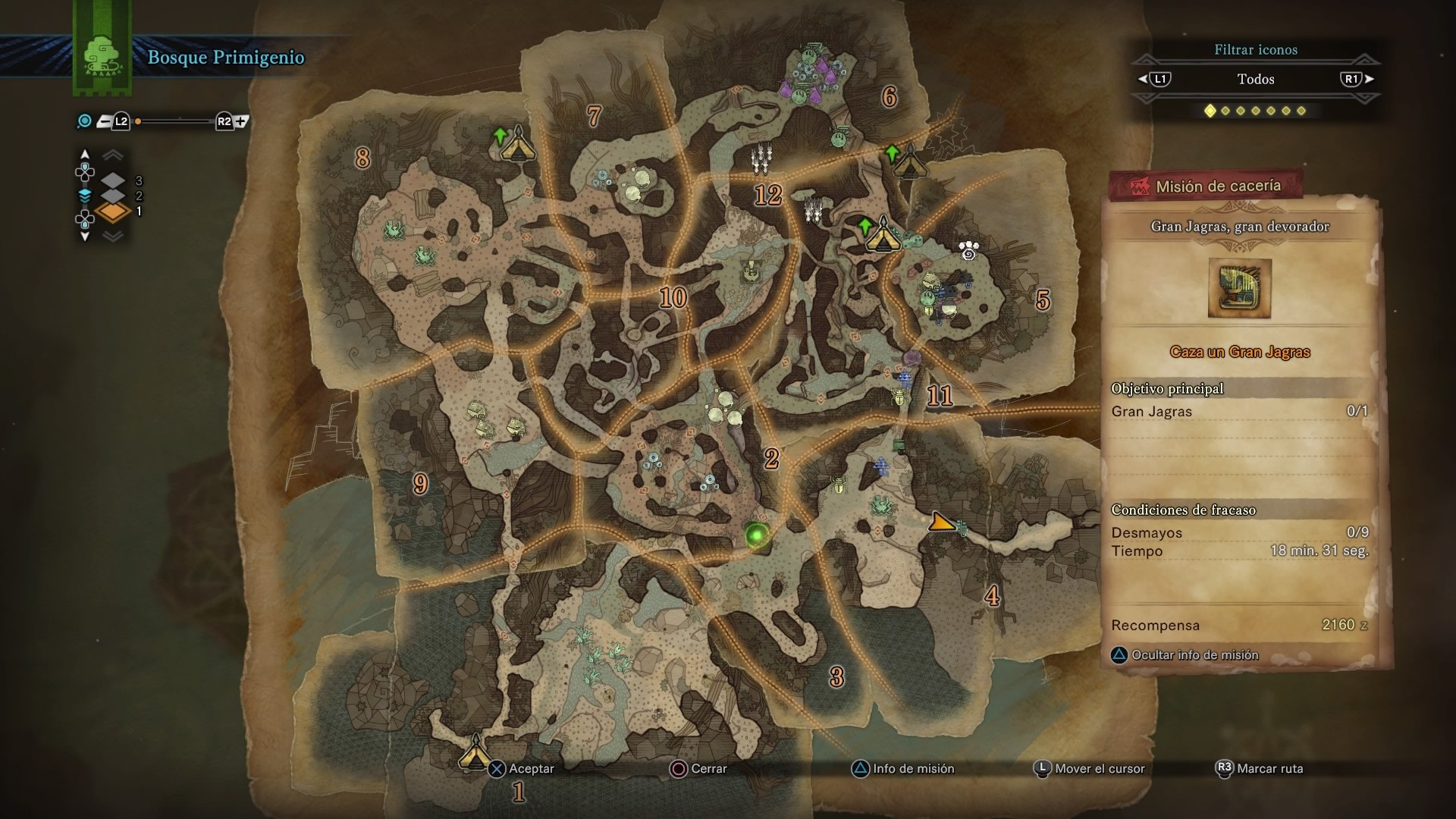 monster hunter world iceborne full map