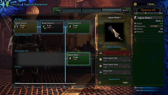 smithy-upgrades-weapons-mhw